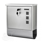 Stainless Steel Wall-mounted Mail Box / Letter Box