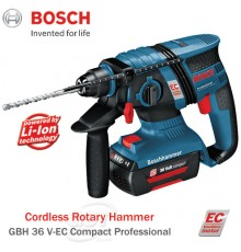 Bosch GBH 36 V-EC Compact Professional Cordless Rotary Hammer (430W)