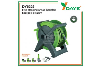 Daye Free Standing & Wall Mounted Hose Reel Set