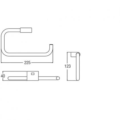 JOHNSON SUISSE PURE TOWEL RING 22.5 X 16.5CM