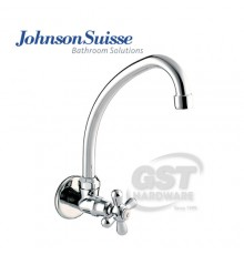 JOHNSON SUISSE TOSCANA WALL-MOUNTED SINK TAP WITH SWIVEL SPOUT & FLANGE