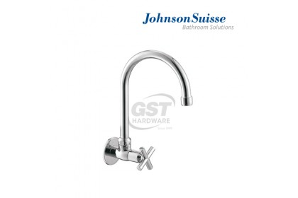 """*Stock Clearance* Johnson Suisse Asti 1/2"""" Wall-Mounted Sink Tap W Swivel Spout (While Stocks Last) 