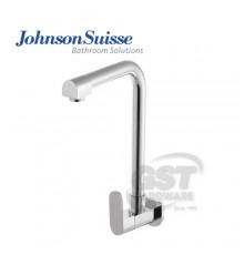 JOHNSON SUISSE FERLA SINGLE LEVER WALL-MOUNTED SINK TAP WITH