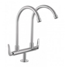"""JOHNSON SUISSE FERMO 1/2"""" DECK-MOUNTED DOUBLE SINK TAP"""