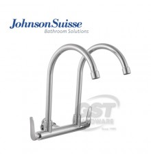 """JOHNSON SUISSE FERMO 1/2""""WALL-MOUNTED DOUBLE SINK TAP"""