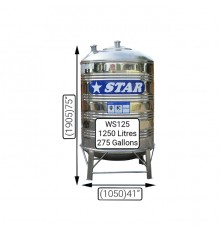 WS125(1250LTS)STAR S/S TANK(0.7MM)