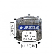 F/B80 (800LIT)STAR S/S TANK 0.7MM