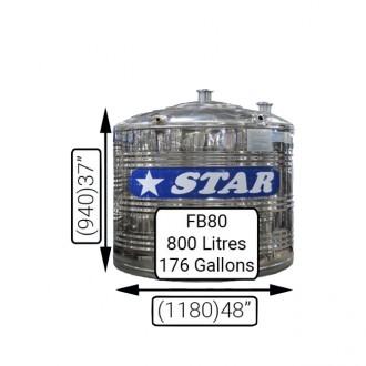 F/B80 (800LIT)STAR S/S TANK 0.7MM