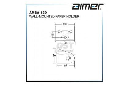 AIMER AMBA-130 STAINLESS STEEL WALL-MOUNTED PAPER HOLDER