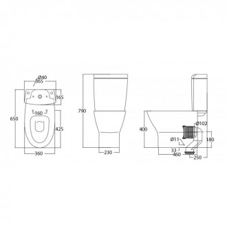 JOHNSON SUISSE IBIZA WBSEIB131WW  BO 6/3L-SOFT CLOSE(R-IN 190MM)WC