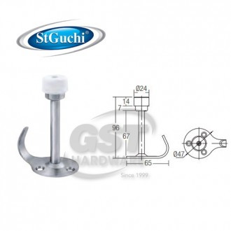 SGDS-024/SS ST GUCHI HAT & COAT HOOK DOOR STOPPER