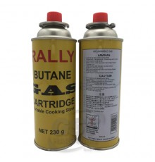 RALLY BUTANE GAS FUEL CARTRIGE 230G