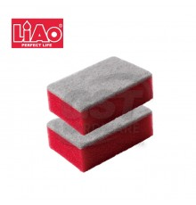 LIAO SPONGE SCOURING PAD -H130029 (2 psc/pack)