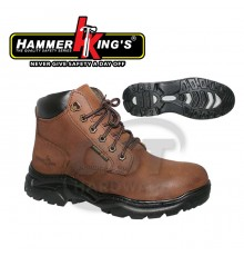 HAMMER KING'S 13014-424 SAFETY SHOE 9' (BROWN)