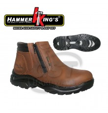 HAMMER KING'S 13013-424  SAFETY SHOE 9'(BROWN)