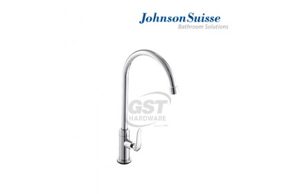 """Johnson Suisse Fermo-N 1/2"""" Deck-Mounted Sink Tap With Swivel (Round Spout)   Water Tap   Kitchen Faucet   Kitchen Tap Faucet   Sink Faucet"""