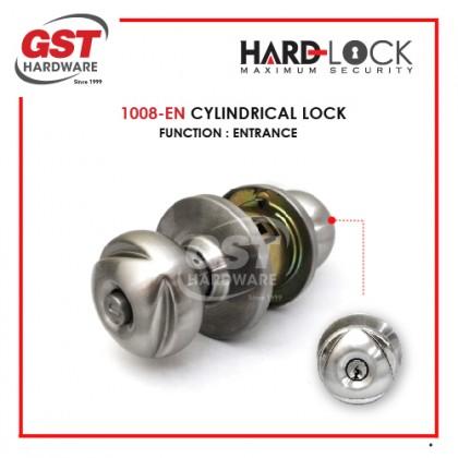 HARD LOCK 1008 CYLINDRICAL LOCK DOOR SET WITH KEY (ENTRANCE)