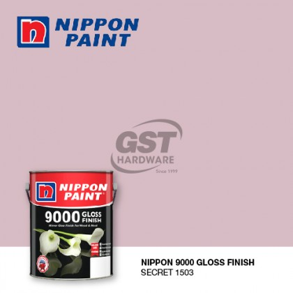 *STOCK CLEARANCE* 5L NIPPON PAINT 9000 GLOSS FINISH FOR WOOD AND METAL (READY MIX)