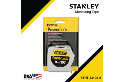 *Original* Stanley 8m/26 Ft. Powerlock® Classic Measuring Tape | Stanley Measuring Tape | Pita Pengukur