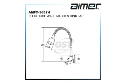AIMER AMFC-3657H FLEXI HOSE WALL KITCHEN SINK TAP