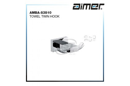 AIMER AMBA-83810 TOWEL TWIN ROBE HOOK