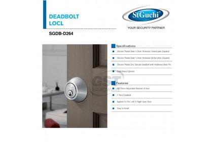 Sgdb-D264 Ss St Guchi One-Sided Thumbturn Deadbolt Lock | Key Lock | St Guchi Lock | House Door Lock LDH264